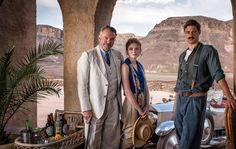 First Photo of ‪#‎Tutankhamun‬, With Sam Neill and Max Irons