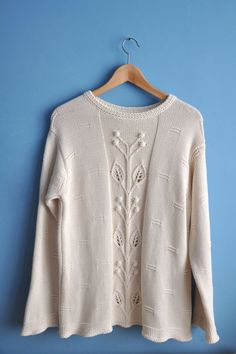 Vintage Benetton sweater vintage white sweater womens