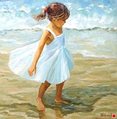 TWIRLING by JOYCE NORWOOD Oil ~ 36 x 36 Art Painting, Fine Art, Beach Canvas Wall Art, Beach Artwork, Art, Watercolor Landscape, Pictures, Beach Art, Pictures To Paint