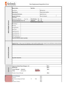Free Job Employment Application Form  Information