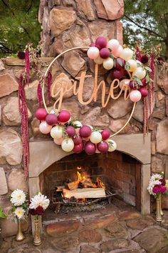 New Party Trend: DIY Gather Hula Hoop Wreath