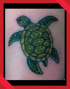Hawaiian sea turtle tattoo by Anthony Hunter