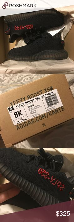 Yeezy 350 V2s Infant 100 % authentic, copped with the confirmed app. Receipt and box included. These yeezys are for infants, they are not for regular size men/women. Yeezy Shoes Sneakers