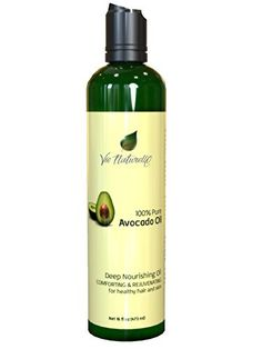 Avocado Oil for Hair, Cooking, and Face for Healthier Skin - 100 % Pure Hexane Free - No Fillers, Dyes or Artificial Ingredients of Any Kind - 16 Fl Oz *** Discover this special item, click the image - Fresh Groceries Fresh Avocado, Avocado Oil, Gourmet Food Gifts, Gourmet Recipes, Vinegar Salad Dressing, Organic Fruit, Baking Supplies, Massage Oil, Hair Oil