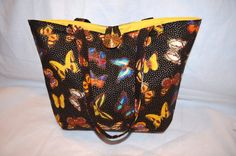 Butterfly bag Black Butterfly Gold Shoulder by RobynFayeDesigns, $39.00