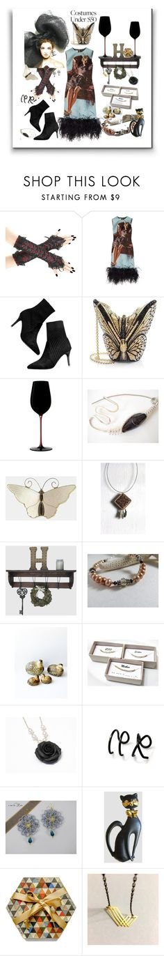 """""""Spoky Style"""" by treasury ❤ liked on Polyvore featuring Prada, Judith Leiber, Riedel and Farfalla"""