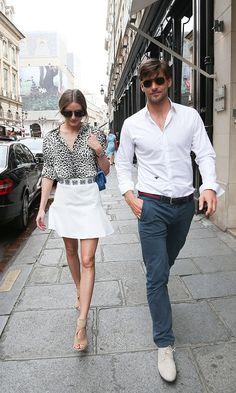 Olivia Palermo in Paris... looks like Rue St. Honore?