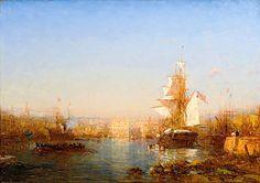 """felix ziem marseille   Félix Ziem - """"Le port de Marseille"""""""