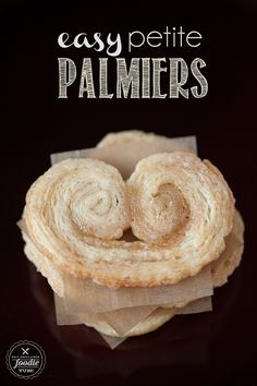 These three ingredient Easy Petite Palmiers look fancy but are quite possibly the easiest cookie you'll ever make. {Self Proclaimed Foodie}