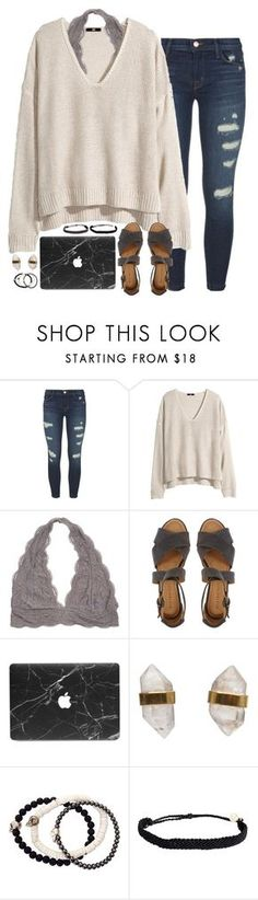 """""""sweaters + sandals"""" by sarahc01 ❤ liked on Polyvore featuring J Brand, H&M, Minimarket, Better Late Than Never, Duchess of Malfi and Pura Vida"""