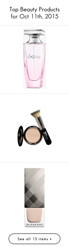 """""""Top Beauty Products for Oct 11th, 2015"""" by polyvore ❤ liked on Polyvore featuring beauty products, fragrance, transparent, edt perfume, rose perfume, floral perfumes, heart perfume, perfume fragrances, makeup and face makeup"""