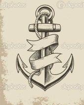 Traditional tattoo + TATTOO`S + tattoo traditional anchor 61 ideas Family Anchor Tattoos, Navy Anchor Tattoos, Navy Tattoos, Trendy Tattoos, Tattoos For Guys, Rip Tattoo, Tattoo You, Tattoo Drawings, Body Art Tattoos