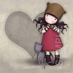 Purrrrfect Love 8 x 8 Giclee Fine Art Print - Gorjuss Art. $18.00, via Etsy.