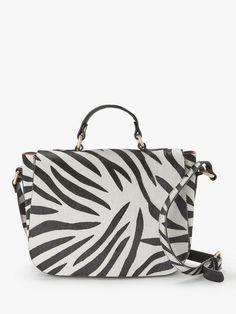 fc2999b075d927 AND/OR Isabella Leather Saddle Bag, Zebra Print