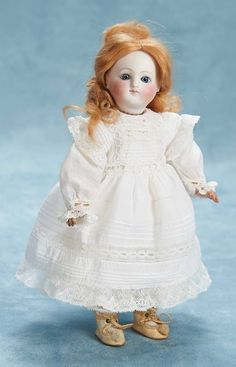 """Theriaults - Tiny French Bisque Early Bebe, Steiner, 10"""""""