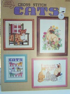 Cats Cross Stitch Pattern Book Needlework Pattern by WitsEndDesign