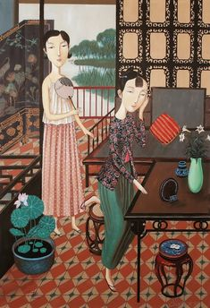 Shuai-Mei-Contemporary-Chinese-Artist-Chinese-Women-in-Painting (6)