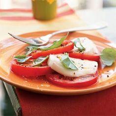 Tomato, Fresh Mozzarella, and Basil Salad (insalata caprese) Tomato Basil Salad, Tomato Mozzarella Salad, Tomate Mozzarella, Fresh Mozzarella, Caprese Salad, Tomato Caprese, Buffalo Mozzarella, Fresco, Salad Recipes