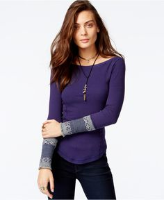 Free People Rosey Cuff Thermal - Macy's