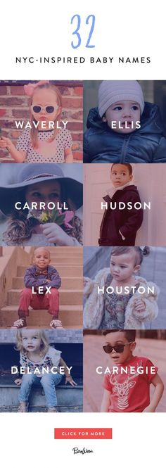 32 NYC-Inspired Baby Names That Are Too Cute for Words - New York kids are the most fabulous in the universe–they love brunch, they've tried kale ice cre - Unisex Baby Names, Cute Baby Names, New Baby Girl Names, Cool Boy Names, Cute Baby Boy Quotes, Country Baby Girl Names, Most Unique Baby Names, Southern Baby Names, Baby Must Haves