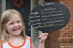 "awesome first day of school idea - document your child's ""favorites"" as they enter each new grade!"