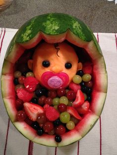 This amazing fruit creation was done by one of my very talented friends for a baby shower.