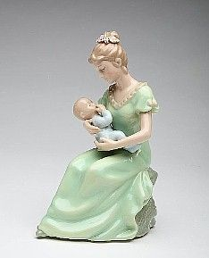 """Porcelain Mother with Child """"Brahams Lullaby"""""""