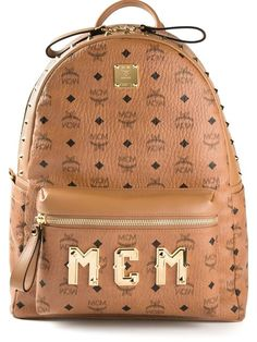 Shop MCM logo backpack in Eraldo from the world's best independent boutiques at farfetch.com. Over 1000 designers from 60 boutiques in one website.