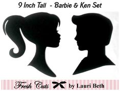 Barbie and Ken Inspired Silhouettes Die by FreshCutsbyLauriBeth