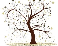 Swirly Whimsical Autumn Tree Instant Download Cross Stitch Pattern