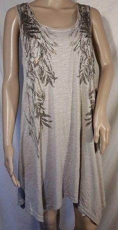 NWT Miss Me Leather Lace Vine Dress Heather Grey Size L #MissMe