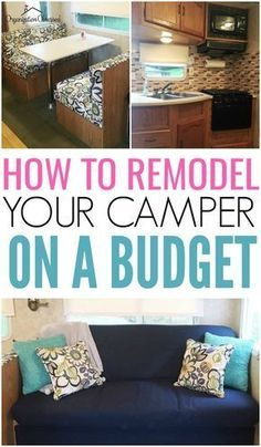 Remodeling your camper? Check out how to reupholster camper cushions the easy way! This is a great DIY project for any Camper owner!