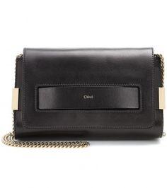 Chloé - Elle leather shoulder bag - mytheresa.com