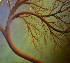 Original Contemporary Fine Art Tree of Life Painting by ZarasShop