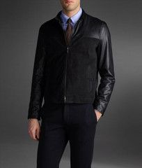 This is one of my favorites on Guy La Ferrera Menswear: Goatskin Leather Jacket by Armani Collezioni