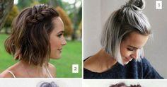 Nossa querida rede social para salvar imagens (e links) está lotada de ideias na área de cabelos e beleza. Selecionei 16 penteados para cabelos curtos muito pinados no Pinterest, fáceis de fazer, estilosos e super usáveis no dia-a-dia. Bora salvar aí na sua pasta também!