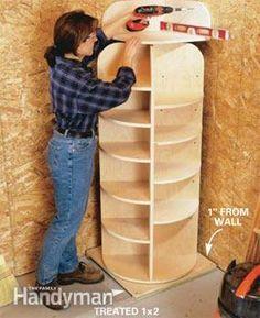 Build A Large Lazy Susan Vertical Shelf – Food Storage Organizer