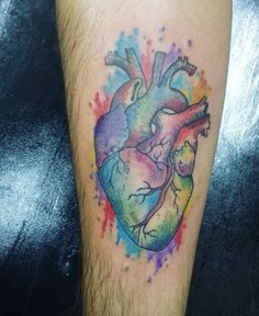 Anatomical Tattoos For Men and Women Mermaid Tattoos, Feather Tattoos, Rose Tattoos, Leg Tattoos, Color Tattoos, Girls With Sleeve Tattoos, Tattoos For Guys, Swallow Tattoo Wrist, Real Heart Tattoos