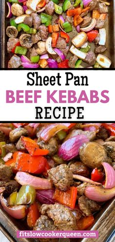Sink your teeth into these juicy beef kebabs (sheet pan style) and your taste buds will be thanking you! They can be thrown together in just 30 minutes and you don't even need skewers!