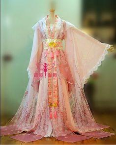 Tao Hua Ji pêssego flor de fadas Hanfu traje para mulheres foto traje casa cor gradiente padrão planta