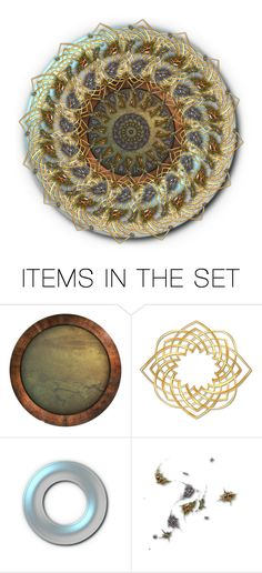 """Metal mandala..."" by k-schrager ❤ liked on Polyvore featuring art"