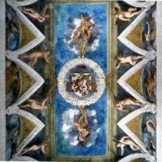 Andito davanti alla Cappella.  Entrata ufficiale del Magno Palazzo nel Castello del Buonconsiglio a Trento.  Lunette con divinità dell'Olimpo e decorazione pittorica di Dosso Dossi e Battista Dissi. 1531-1532  Stucchi di artisti mantovano.