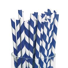 Blue and White Striped Paper Straws. I'm not sure that they're necessary for this party, but they are too cute!