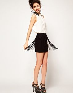 ASOS Mini Skirt with Fringing - DIY????