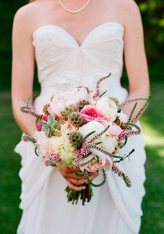 Tumblr-bridal bouquet, love the wild looking pink veronica