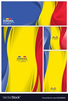 Abstract romania flag background vector image on VectorStock