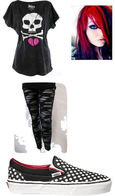 """Cute Emo"" by felicite-t ❤ liked on Polyvore"