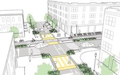 Intersections of Major and Minor Streets explained and illustrated in the NATCO Urban Street Design Guide. Click on image for details, and visit the Slow Ottawa 'Streets for Everyone' Pinterest board for more of these superb illustrations.
