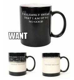 magic harry potter mug