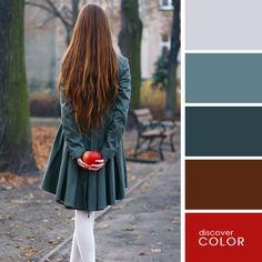 Девушка с яблоком | DiscoverColor.ru